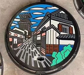 呼市艺术水井盖